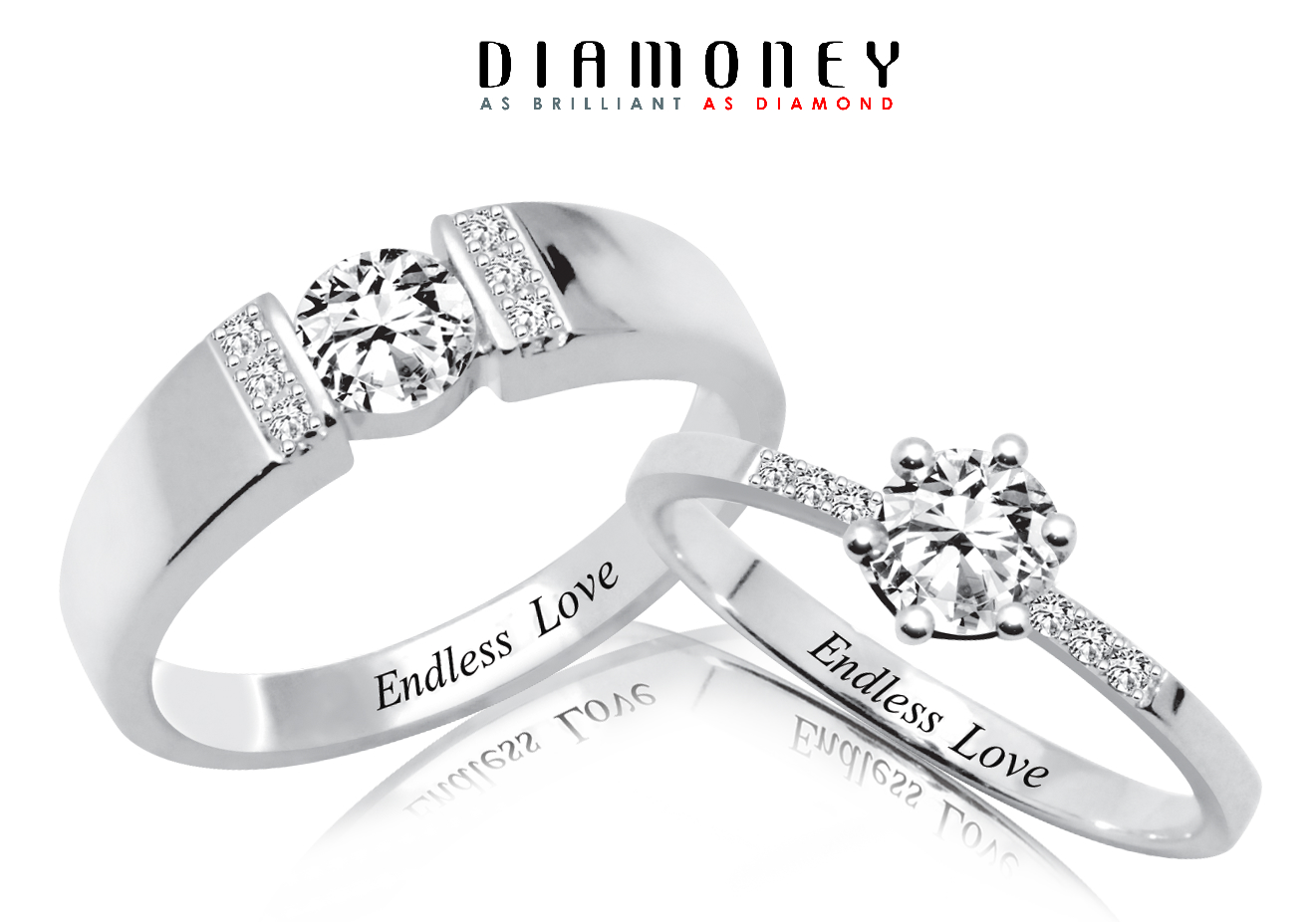 heart endless lajerrio love promise silver rings jewelry
