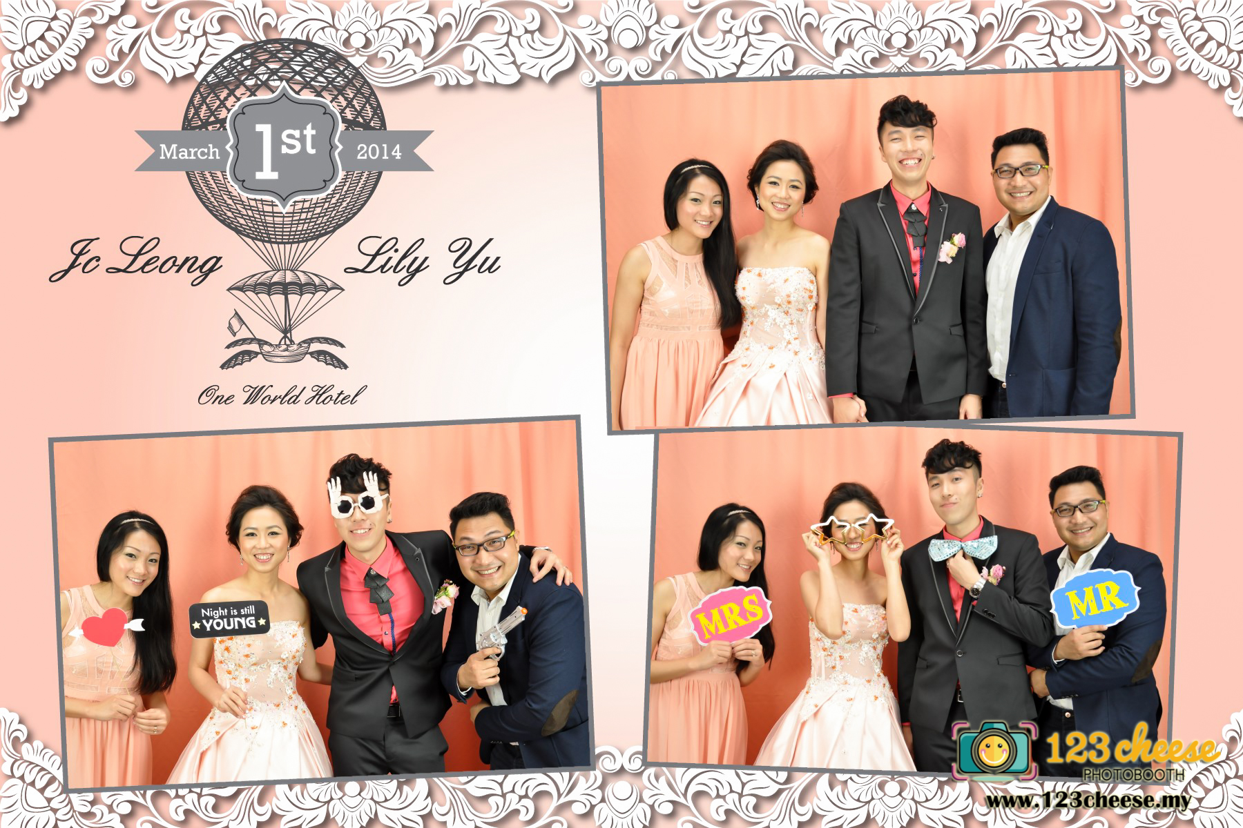 Wedding Photobooth With Creative Photo Layout Design 100 Customer