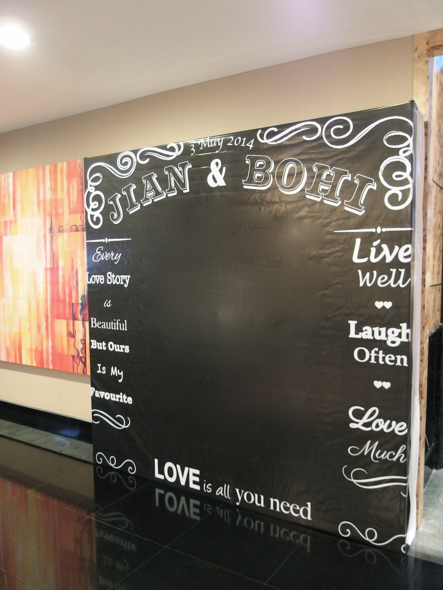 Chalkboard Printing Photo Booth Photobooth