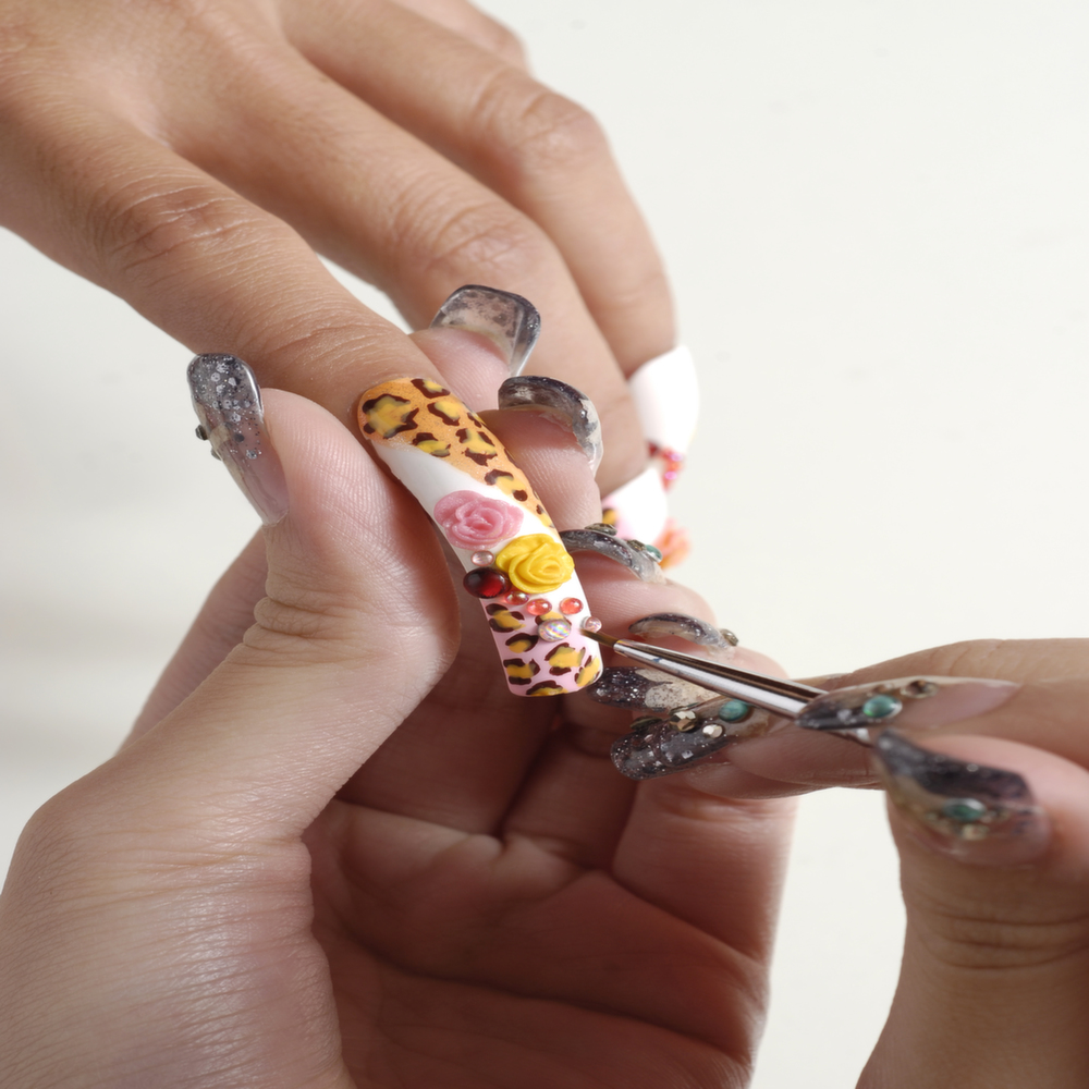Artistic Wedding Nail Art