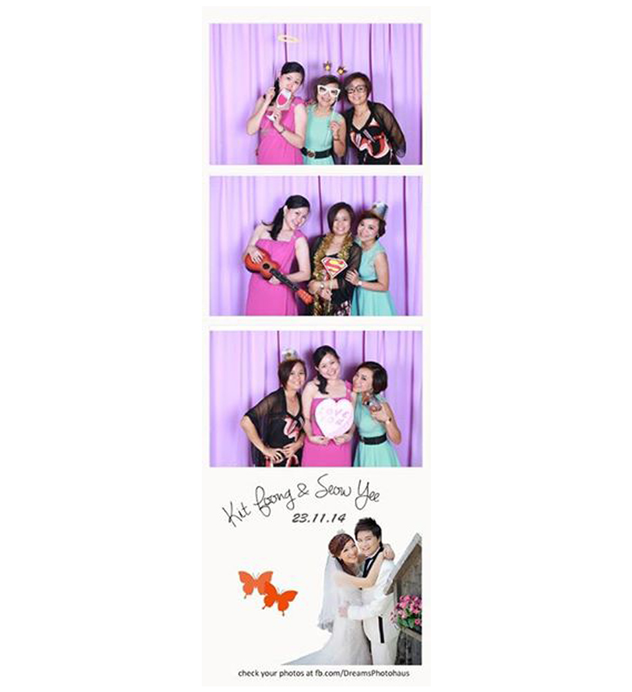 Photobooth with Purple Backdrop