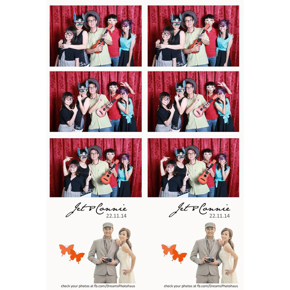 Photobooth with Red Backdrop