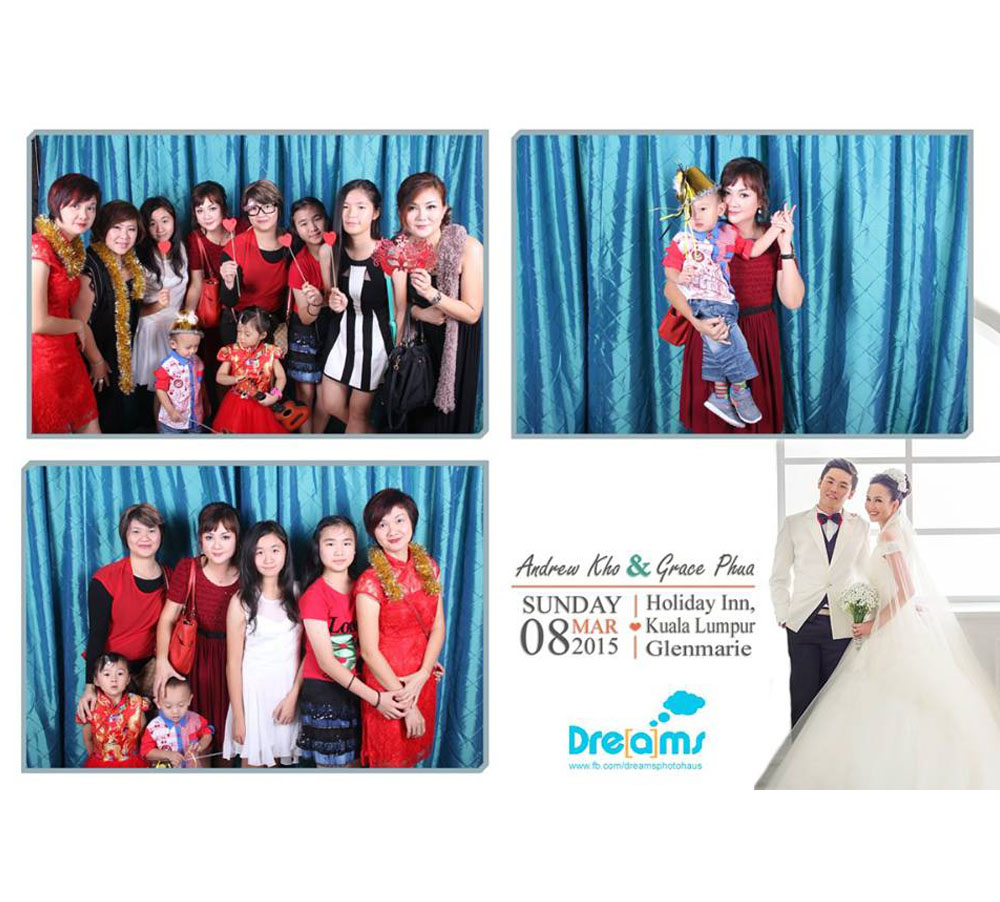 Photobooth with Blue Backdrop