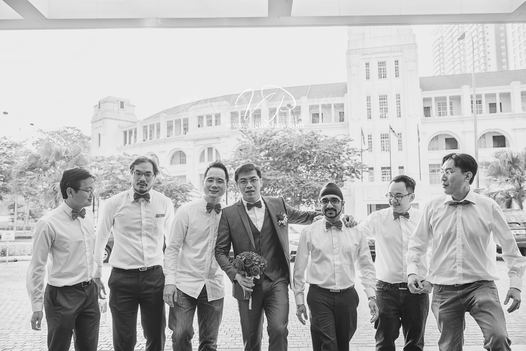 Groom and Groomsman - Actual Day