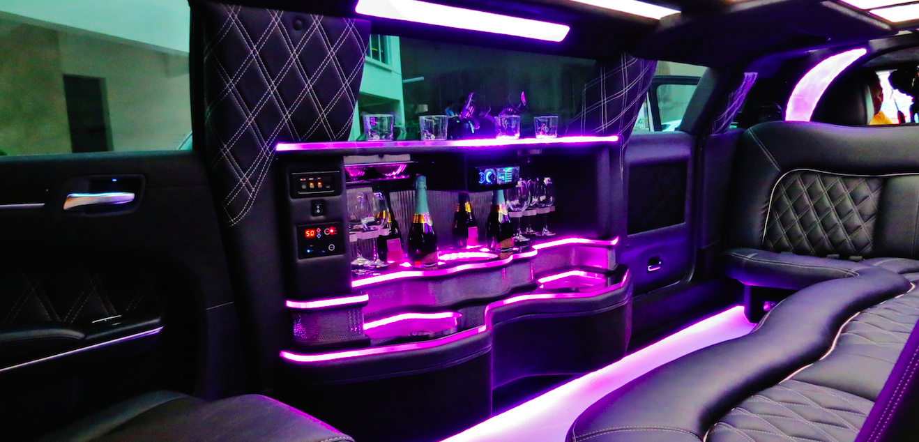 Interior of the Stretch Limousine