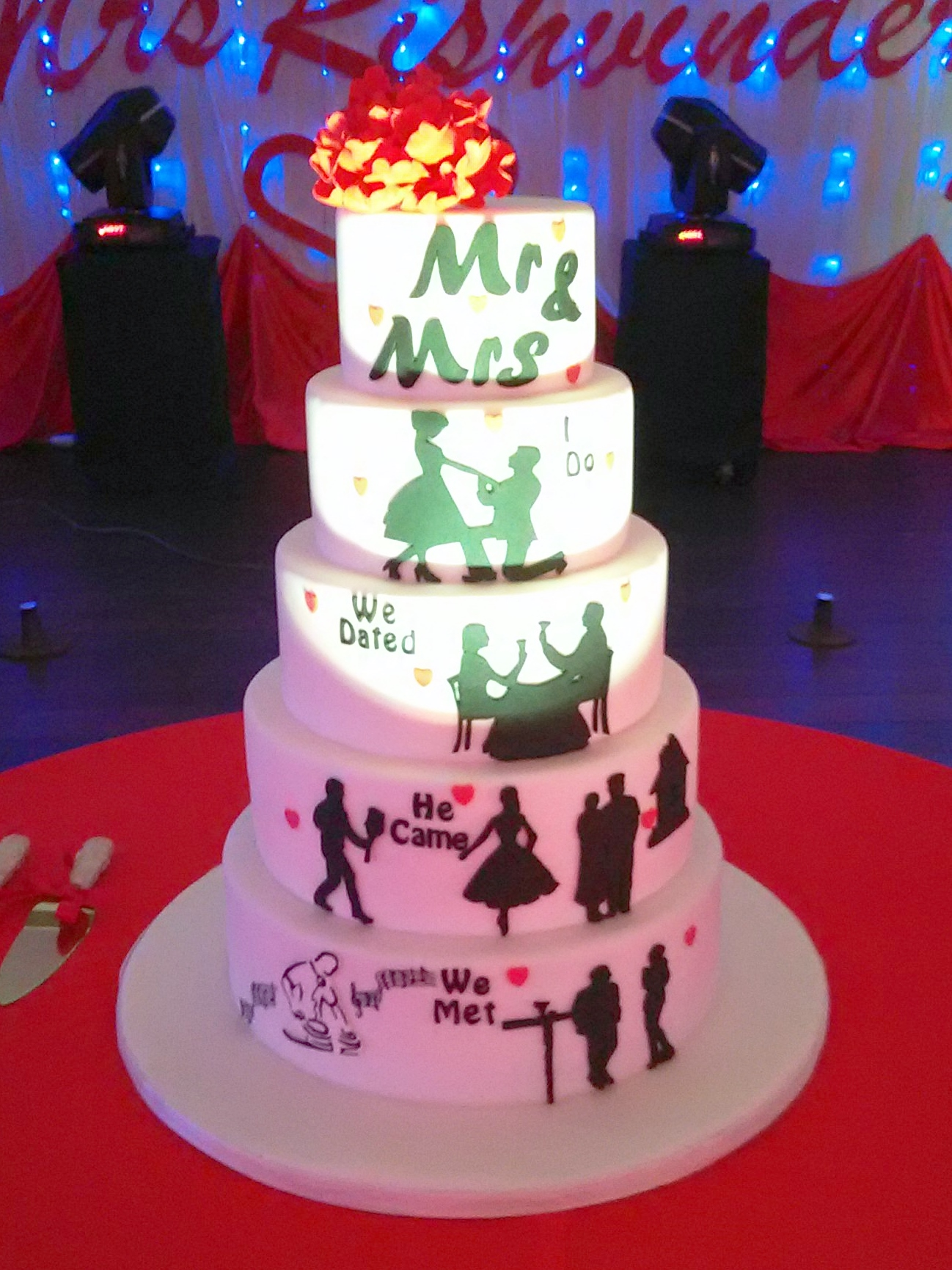 Silhouette Cake with a Storyline