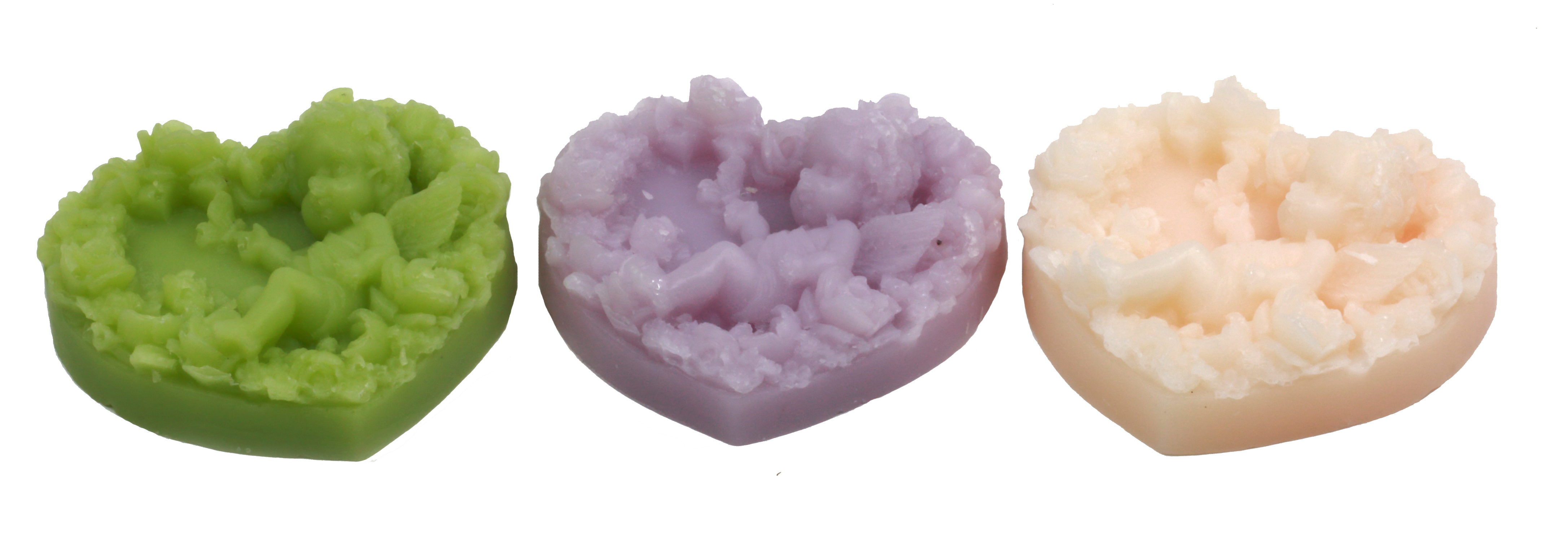 NLW-08 - 60g MP Angel Heart Shape Soap (Pastel Color)