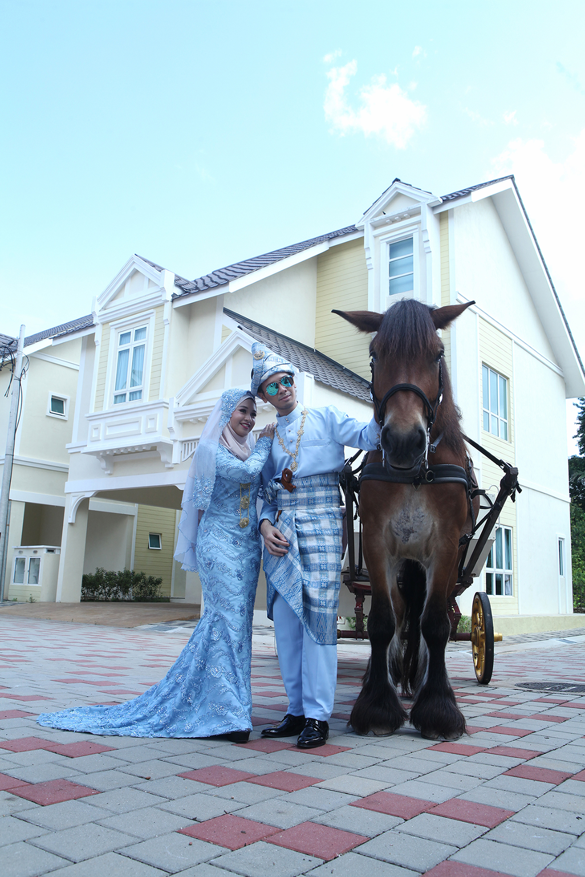 With horse at Everia Villas Resort